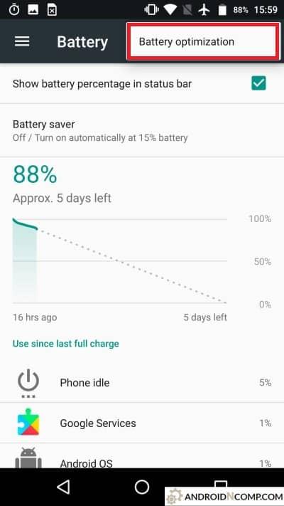 battery optimization.