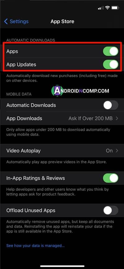 automatic app updates