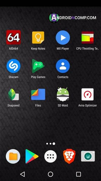 Launcher menu call