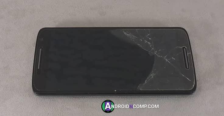 broken tempered glass