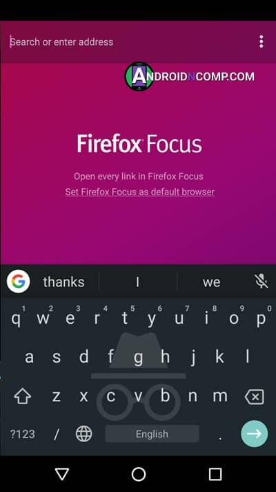 Firefox Focus app